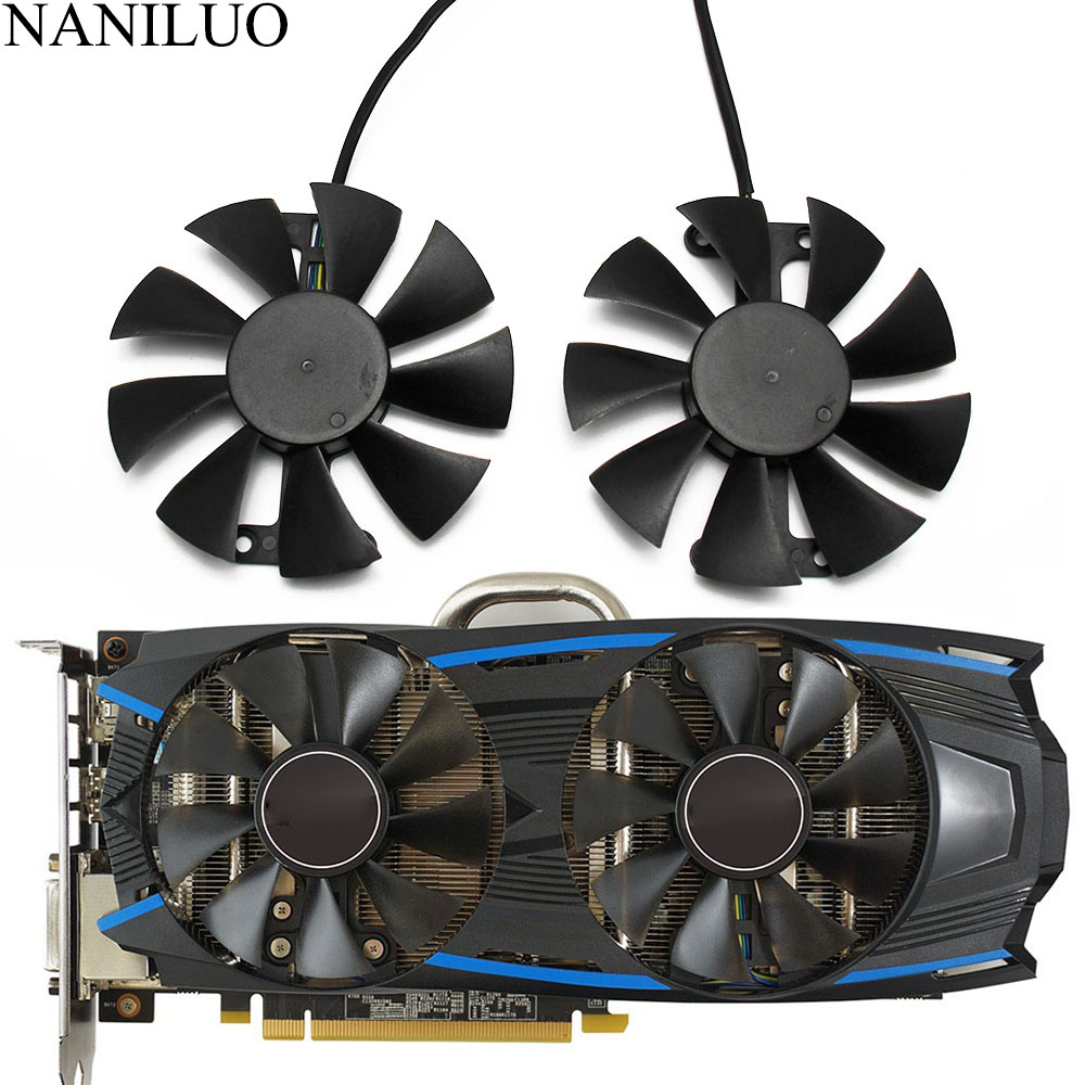 2pcs/set GA91S2H GeForce GTX 950 1060 GPU Cooler Fan For GALAXY GeForce GTX 950 GeForce GTX1060  VGA Cards Cooling Fan