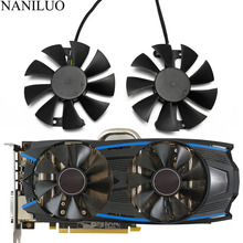2pcs/set GA91S2H GeForce GTX 950 1060 GPU Cooler Fan For GALAXY GeForce GTX 950 GeForce GTX1060  VGA Cards Cooling Fan syscooling sc vg48 all covered water block for vga gpu cooling head support nvidia gtx 480