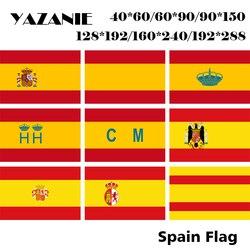 Espanha Bandeira Nacional YAZANIE Dupla Face Iate Alferes Marítima Post Serviço Aduaneiro Ensign Bandeira Espanha sob Franco Spa Civil