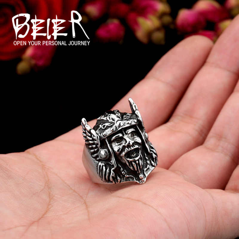 Beier новый магазин кольцо из нержавеющей стали 316L высшего качества Warcraft, игра кольцо ретро Zeus греческая мифологическая BR8-239
