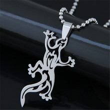 Steampunk Gecko Anime Pendant Stainless Steel Necklaces & Pendants Ball Chain Women Men Jewelry Fashion Gothic Choker Necklaces