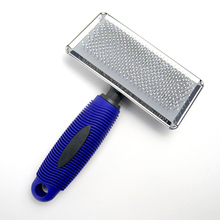 Stainless Steel Pet Brush with Rubber Handle