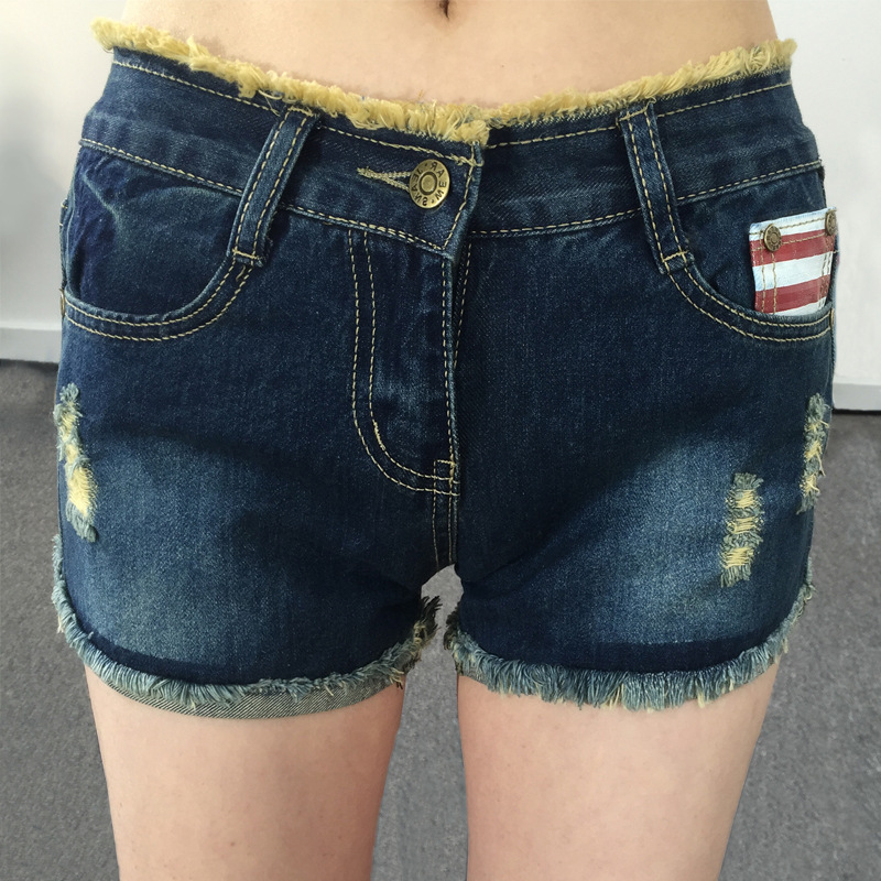 Wholesale Large size jeans female loose 2016 loose new holes in the summer code-size denim shorts fat MM Korean Slim breeches