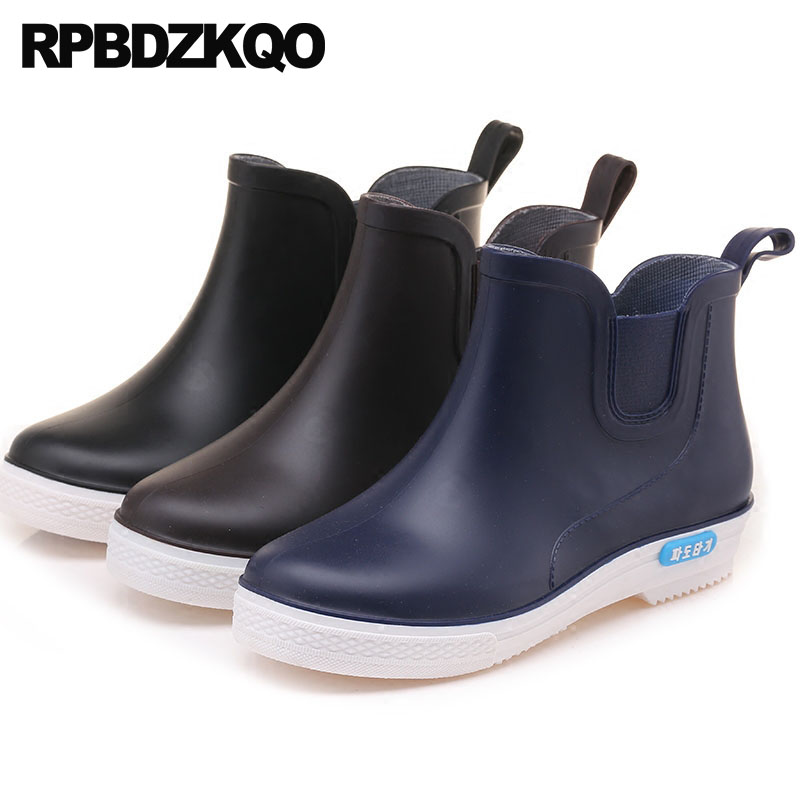 Rubber Fishing Boots Men Plus Size Chelsea Pvc High Sole Camouflage Durable Cheap Rain Blue Shoes Slip On Booties Waterproof durable dabbling camouflage trousers size l
