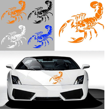 цена на 3D Car Stickers and Decals Cute Scorpion Car Styling Stickers 28cm Funny Car Stickers For BMW VW Ford Toyota Honda Kia Stickers