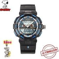 SNOOPY Men Military Watch Waterproof WristwatchDUAL DISPLAY LED Quartz Clock Sport Watch Male relogios masculino KIDS Shock s805|Children's Watches|   -