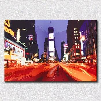 Hermosas imágenes de la ciudad en la pared paisaje de la ciudad pintura de arte pop pintura moderna regalo para la decoración del hogar de los Amigos