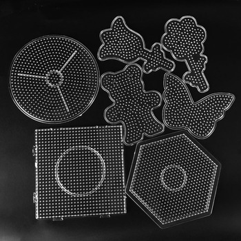 5mm Hama Beads template Toy DIY PUPUKOU Beads tool Educational Tangram Jigsaw Puzzle Template Kids Toy 1