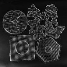 5mm Hama perles modèle jouet bricolage PUPUKOU perles outil éducatif Tangram Puzzle modèle enfants jouet