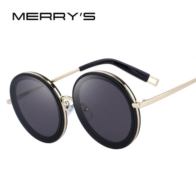 MERRYS дизайн для женщин Классический Круглый Солнцезащитные очки для 100% УФ Защита S6275