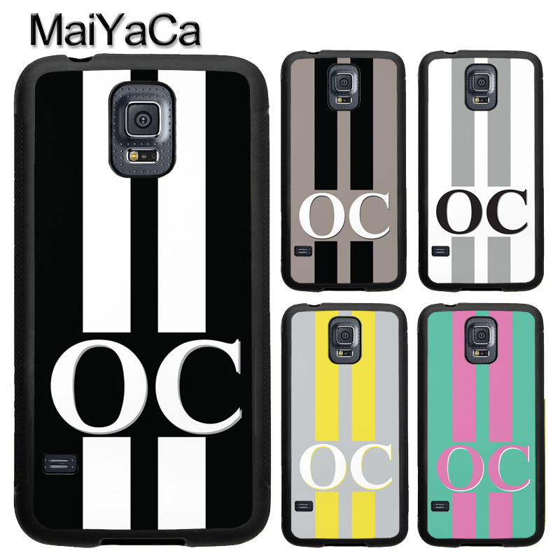 MaiYaCa PERSONALISED INITIALS Custom For Samsung S7 S4 S5 S6 edge S9 S8 Plus Note 8 Note 4 Note 5 Phone Case Coque Protector