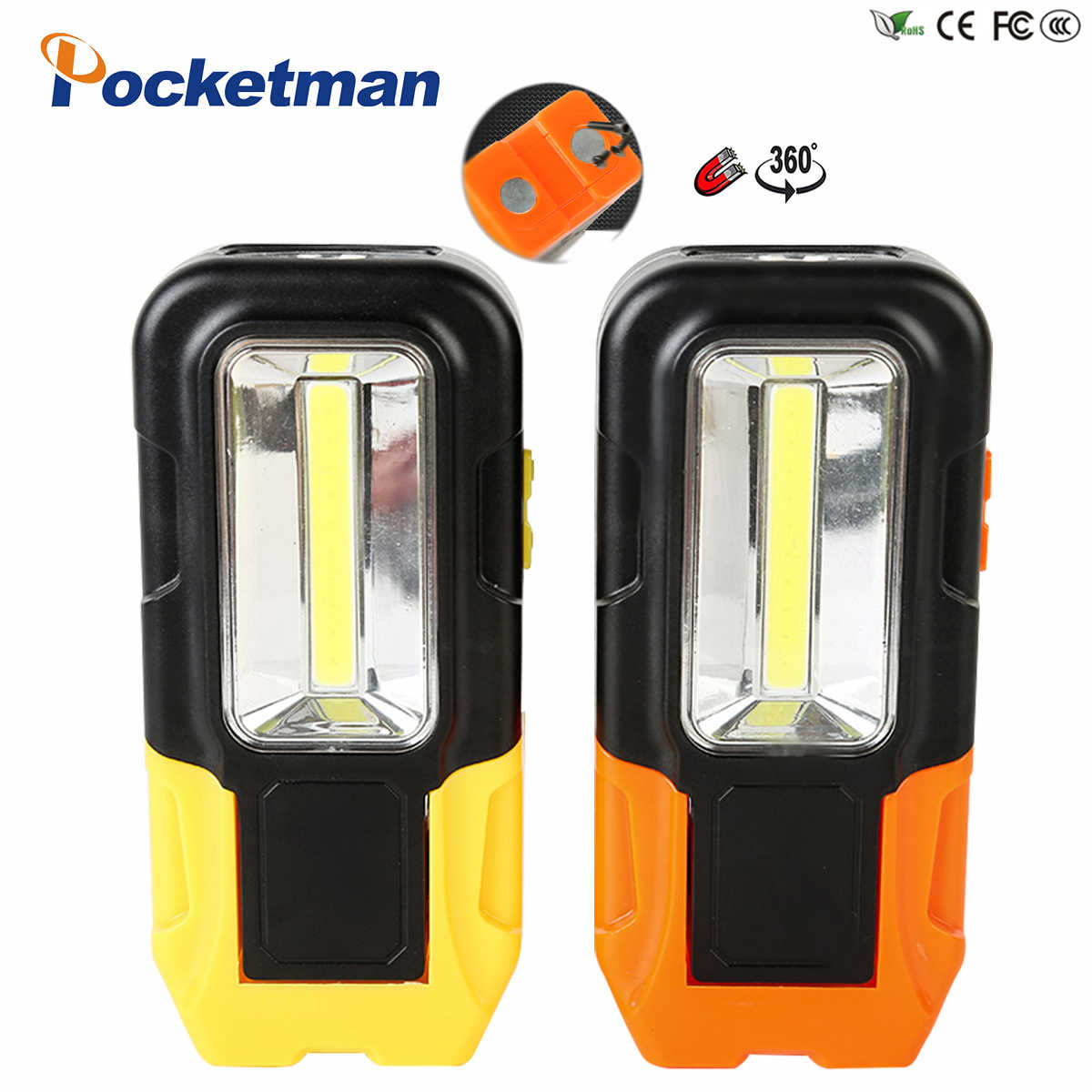 Sterke Magneet COB LED Zaklamp 3 Modes Batterij Operated Werklamp Magneet Mini Verlichting LED Zaklamp Lamp