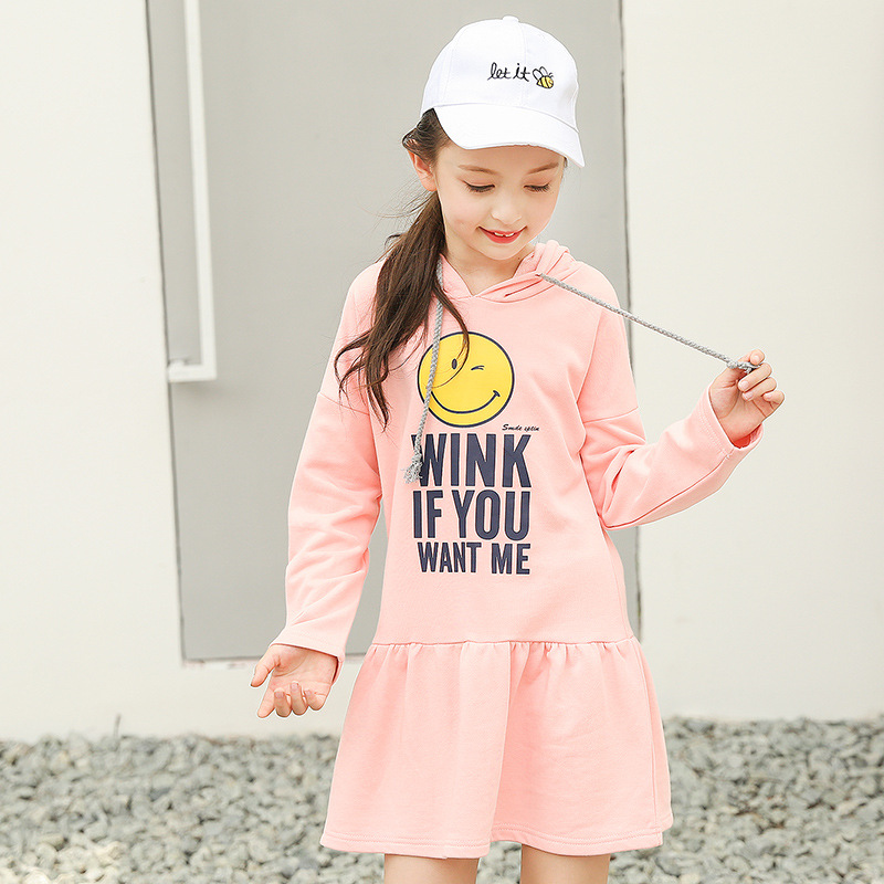 2017 Girls Sports Dress Kids Princess Cotton Active Dress Teenage Children Clothing Kids Hooded Clothes 8 9 10 11 12 13 14 Yrs spring fall girls dress printing long sleeved dress with pockets cotton kids casual clothes brand children clothing 1 6 yrs