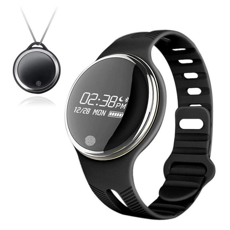 New E07 Swimming font b Smart b font Bracelet 24 12 Hour System Necklace Band Pedometer