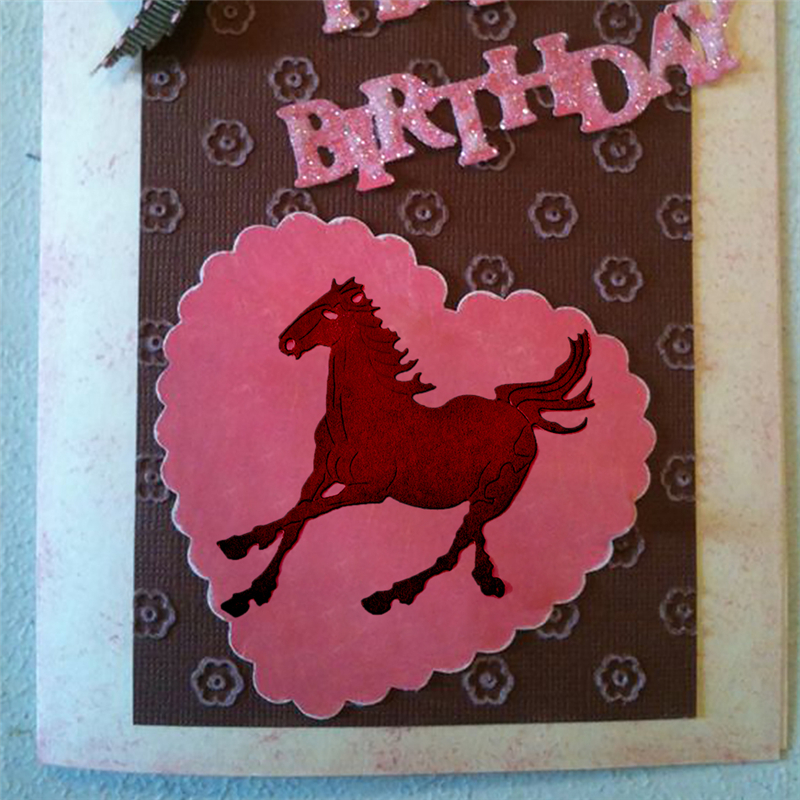 Julyarts Metal Horse Cutting Dies Stencil Horse Photo Album Stencil Scrapbooking Card Paper Embossing DIY Craft