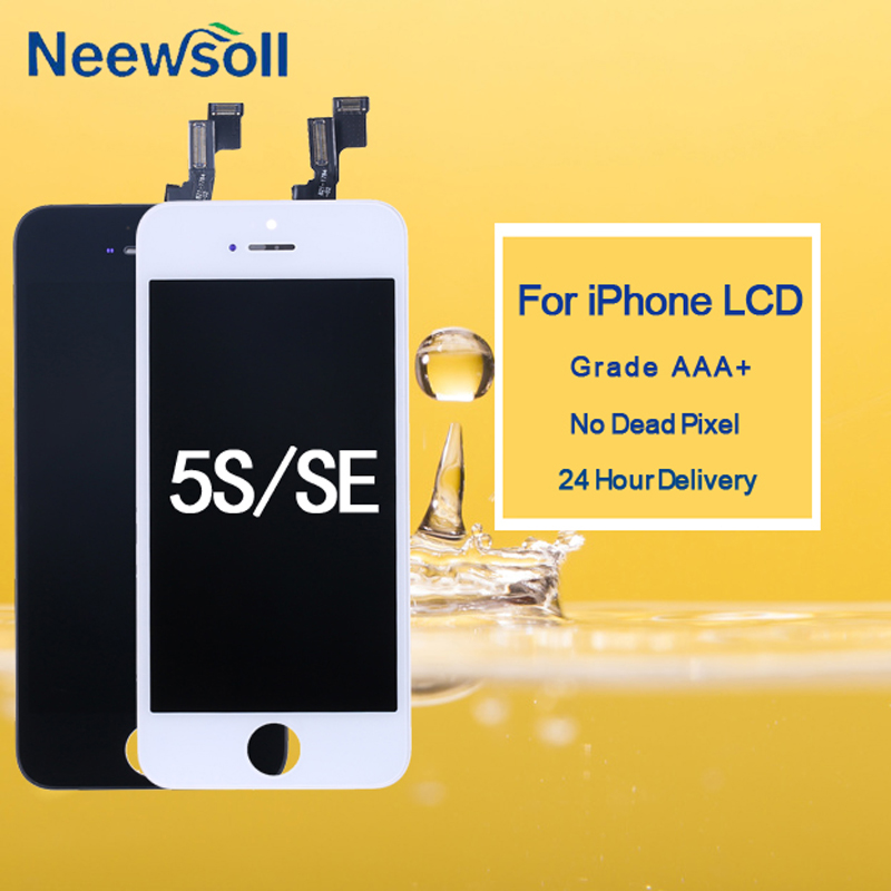 10PCS lot For iphone 5S LCD Screen Touch Screen With Digitizer Display For iphone LCD No Dead Pixel in Mobile Phone LCD Screens from Cellphones Telecommunications