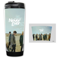 HOT SALE GOT7 Never Ever CUP Models Double Insulation Plastic Good Quality Mug Coffee Cup Space Cup BZ1095 good quality syd 261 pensky martens closed cup flashpoint tester flash point 220v