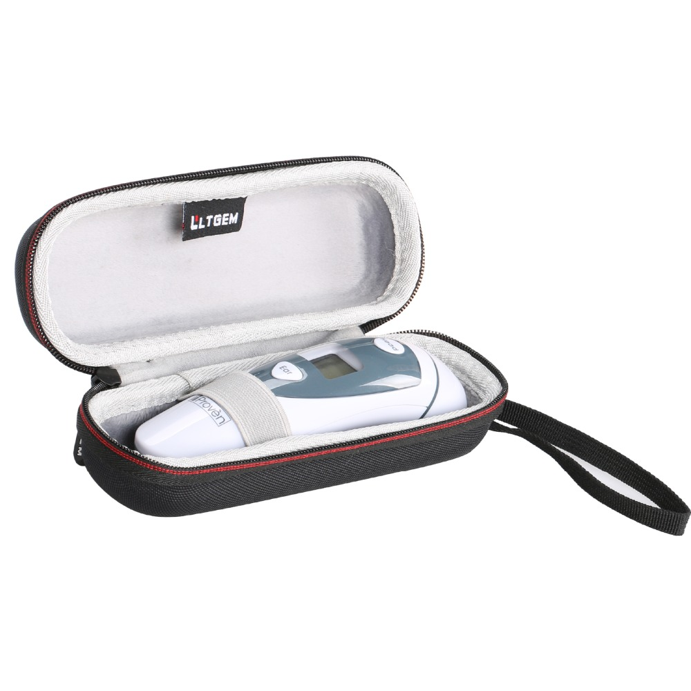 LTGEM EVA Hard Case For IProven DMT-489 Medical Ear Thermometer With Forehead Function - Travel Protective Carrying Storage Bag