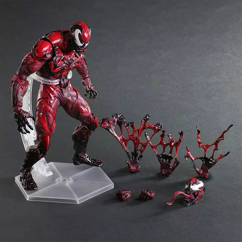 C&F Play Arts The Amazing Spider Man Evil Spiderman Action Figure Collectible Decoration Peter Toys Doll Red Brinquedos Toys spider man play arts kai juguetes pvc action figure amazing spiderman play arts spider man kids toys brinquedos