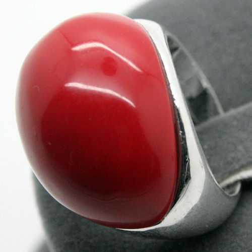 RARE JEWELRY DROP RED Coral GEMSTONE 925 STERLING SILVER RING SIZE 7//8//9//10