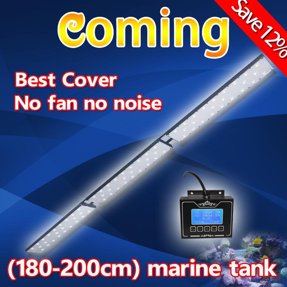 Fish aquarium lighting systems - 180cm 2016 Hot Dimmable Led Aquarium Light Marine Fish Tank System For Quarim Tank Coral Raise