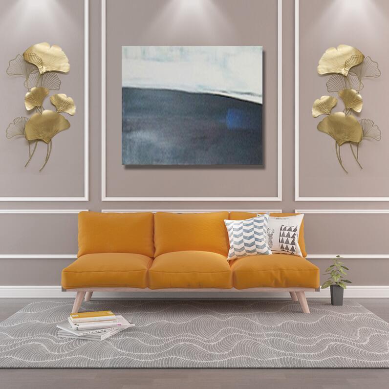 Moderne Luxe Smeedijzeren Muur Opknoping Ginkgo Blad Ambachten Decoratie Thuis Achtergrond Muursticker Veranda Metalen Muurschildering Accessoires - 5