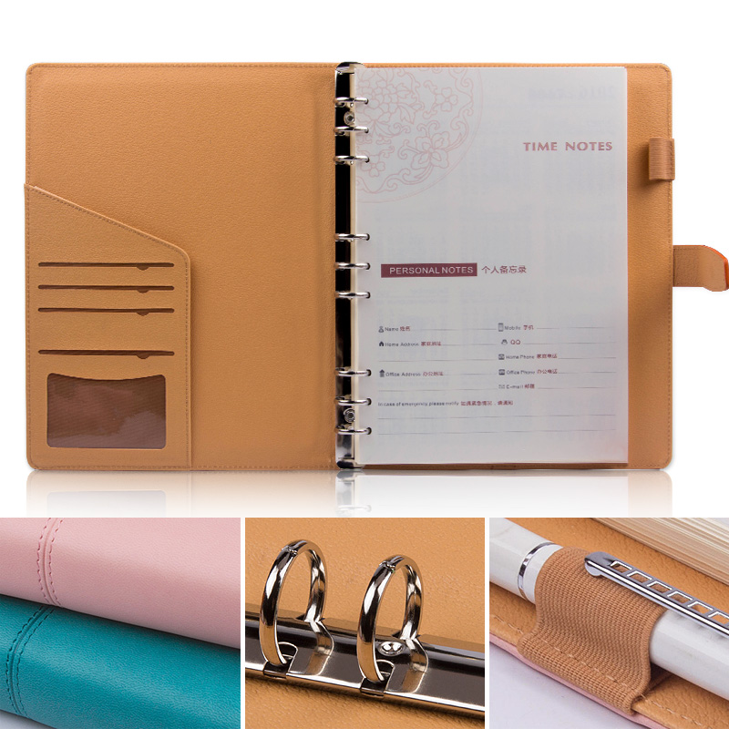 B5 notebook business office stationery hand account calendar loose leaf buckle book today this custom diary notes high quality pu cover a5 notebook journal buckle loose leaf planner diary business buckle notebook business office school gift