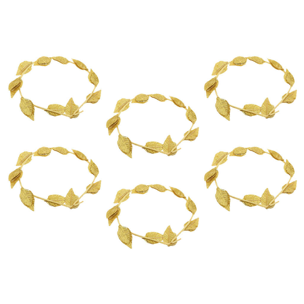 Roman Laurel Wreath Gold Leaf Headband Women/'s Costume Accessory