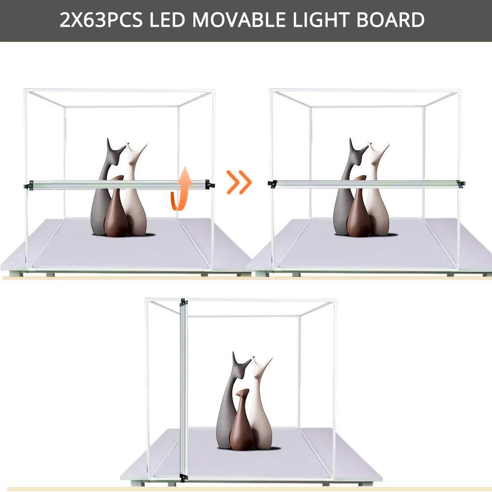 Spash M60II 60*60 Cm Photo Studio Light Box Softbox Foto Doos 48W CRI92 Lightbox Tent Voor Sieraden speelgoed Schoenen Product Fotografie - 5