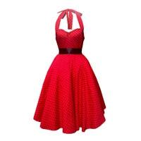 16038 2016 Spots In Original Design V Neck Hang Red Bottom Neck Posed Dress Dress To
