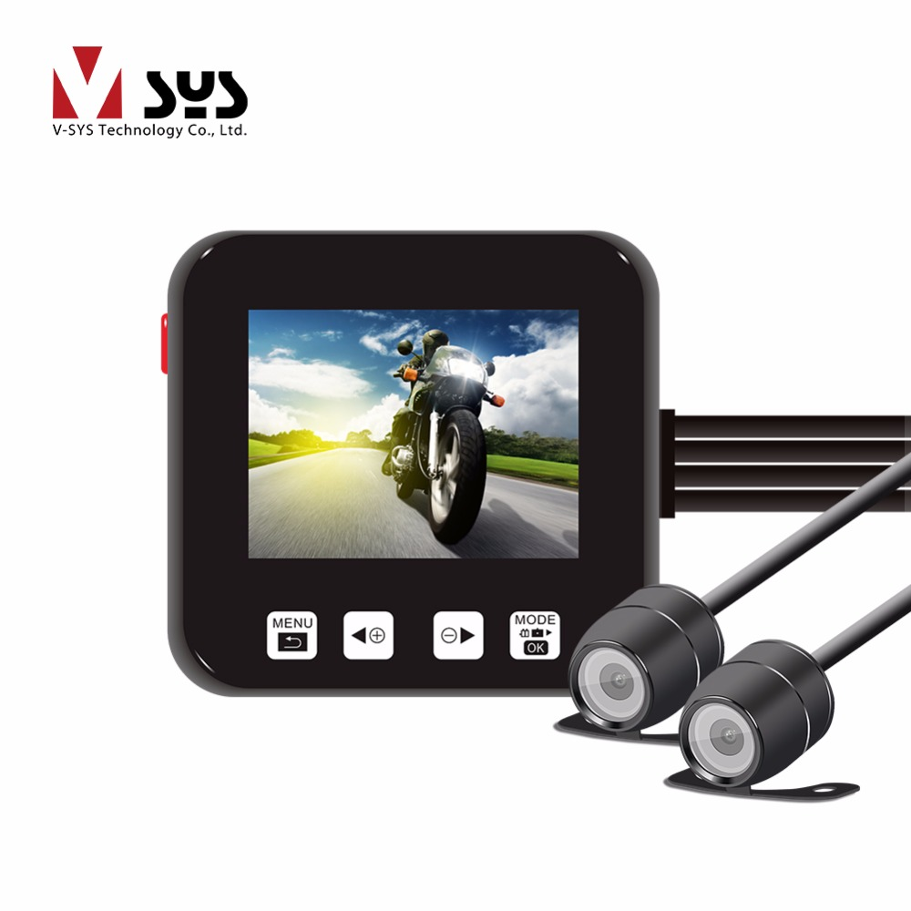 Vsys Sys C6 Motorcycle Video Camera Front Rear View Dash Cam 2.0 Inch Screen Factory Price Much Better Than Helmet Sports DVR
