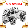 New Arrival Gift Off-road SUV 3D Puzzle Metal Model Vehicle Handmade DIY Game Educational Toys Car Alloy Desk Decoration Present