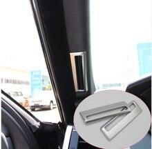 2pcs/set ABS Chrome A Pillar Air Conditioning Vent Trim For Range Rover Sport Vogue 2014-2017 Car Accessory