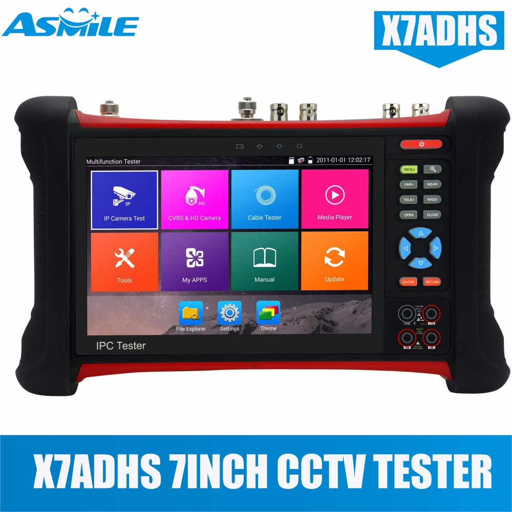 New multi functional X7 wifi cctv tester 4K H.265 IP/Analog/TVI 5MP/ CVI 4MP/ AHD 4MP with HDMI IN/OUT for X7ADHS ...