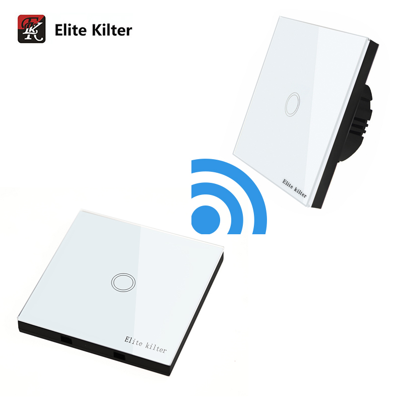 Elite Kilter Luxury Crystal Glass Wall Touch Switch Normal 1 Gang With 1 Gang Stick Touc ...