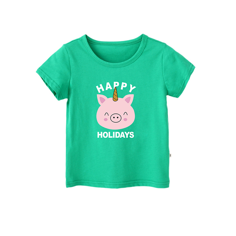 VIDMID 2-10 Years Kids Short Sleeve T-shirts Summer Tees Clothes Casual Cotton T-shirts Tops Children Baby Girl Clothes 4018 40
