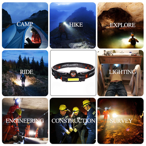 Image 5 - Portable mini High Power LED Headlamp Built in Battery T6+COB USB Rechargeable Headlight Waterproof Head Torch Head Lamp
