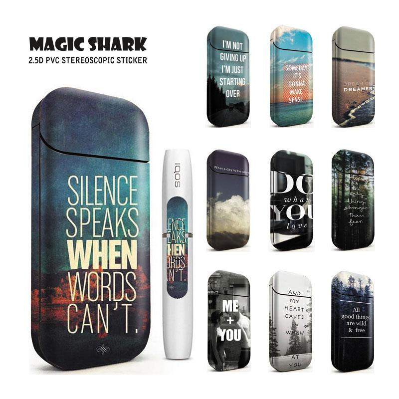 Magic Shark Do What You Want Stereo Film Printing Cover PVC For IQOS 2.4 Plus Skin Case Electronic Cigarette Protective Sticker