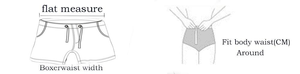 Boxer Shorts Troncos Boxers Sensuais Dos Homens Respirável