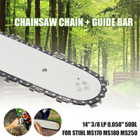 14 Guide Bar Saw Chain Set for STIHL MS170 MS180 MS250 3/8 LP 50DL Universal Chainsaw Bar for Wood Cutting Chain Saw Tool Parts