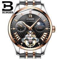 Switzerland Mechanical Watch Men Binger Role Luxury Brand Men Watches Skeleton Wrist Sapphire Men Watch Waterproof B 1186 7