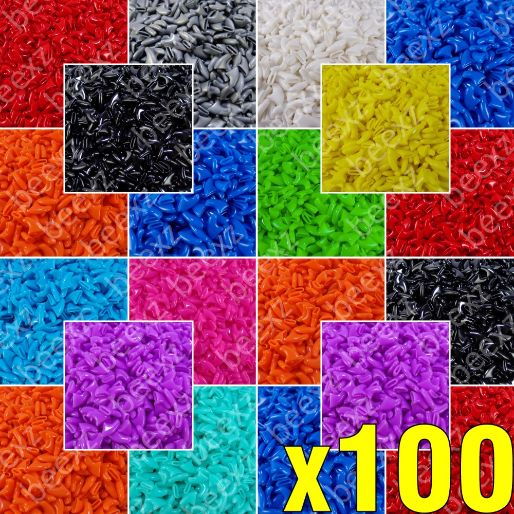 100pcs Soft Nail Caps For Cats + 5x Adhesive Glue + 5x Applicator /* Xs, S, M, L, Cover, Cat, Paw, Claw, Zeo */