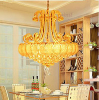 LED 21W 30W Art Creative Restaurant Sitting Room The Bedroom Room Chandelier Crystal 220 240V 9