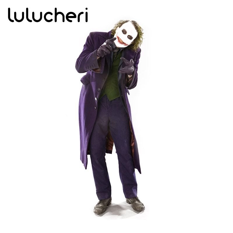 Batman The Dark Knight Joker Costume Batman Joker Suit Outfits Classic Halloween Cosplay Christmas Party Suits For Men Women