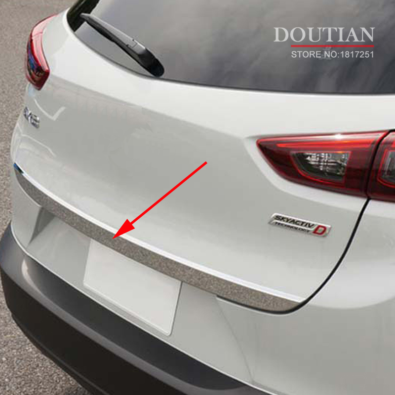 for Mazda CX-3 CX3 CX 3 2014-2018 Door Sticker Stainless Steel back door Tailgate trim Car Styling Accessories