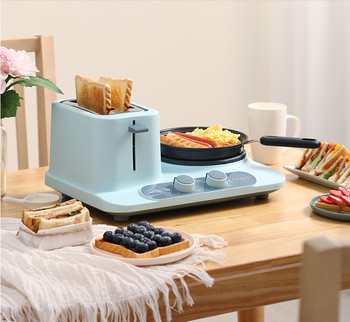 3 in 1 Multi-function Breakfast Machine Household Toaster Electric Bread ToasterBaking Heating Boiled Egg high quality 2 slices toaster stainless steel made automatic bake fast heating bread toaster household breakfast maker