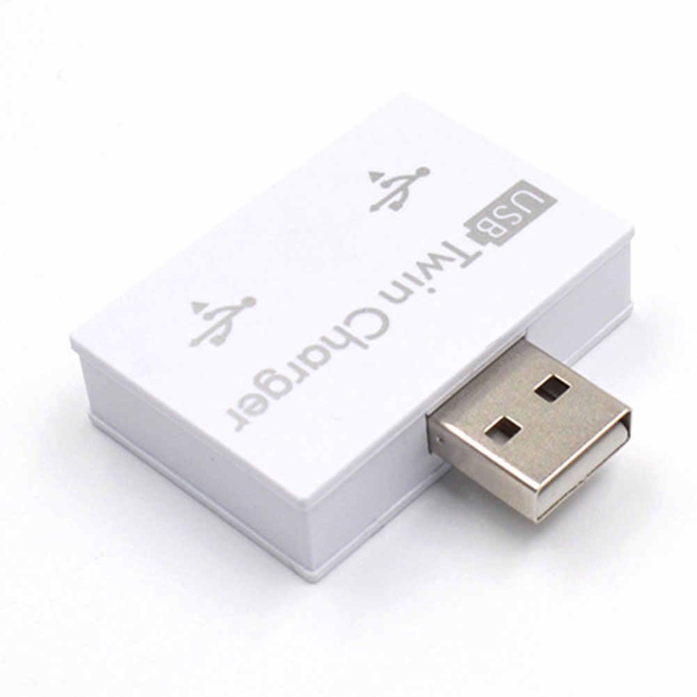 2 portas Splitter Adaptador Hub Extensor USB Prático Mini ABS Portátil Para O Telefone Tablet Moda Profissional Estável Carregador Gêmeo