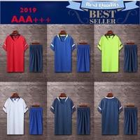 2019 men Gym table tennis shirts +shorts sets short sleeve soccer jersey adult soccer suits football uniforms sportswear