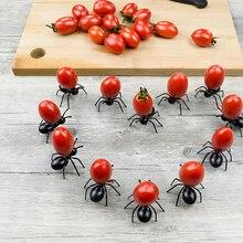 12 шт. муравьи еда фрукты pick s фрукты вилка форма муравья вилки закуска пирог десерт посуда для дома кухня вечерние ужин фрукты pick D5