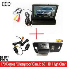 4.3 «Авто Зеркало Заднего Вида Складной Монитор Парковка + Автомобиля Обратный HD CCD камера для BMW 1357 серии X3 X5 X6 Z4 E39 E53 E46